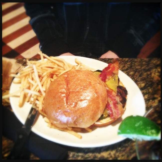 Andrew went with the classic Bacon Burger, which he enjoyed.