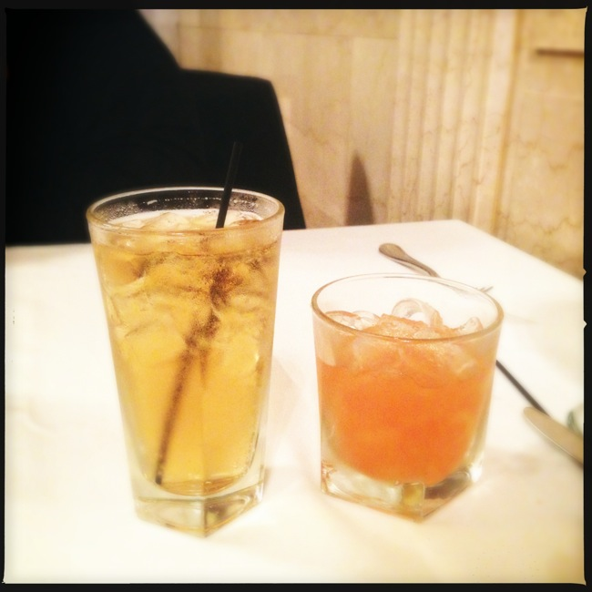 """A trip to Bourbon Country requires a cocktail! Carrie went with the Brown Hotel's signature """"Kentucky Cocktail"""" (Ale8one ginger ale with Makers Mark bourbon), and I had one of the best Old Fashioneds I have ever tasted."""