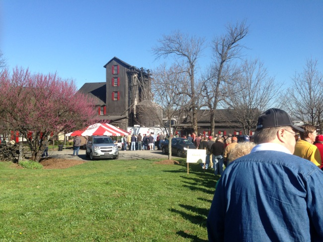 45 minutes before check in started this was the line we found for entrance into Makers Mark's Ambassador Days party