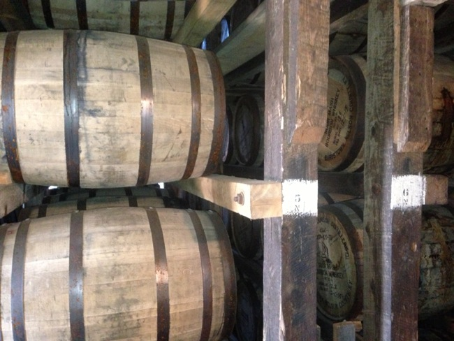 The rickhouse at Willett contains just the barrels filled since full distillation restarted onsite last year.