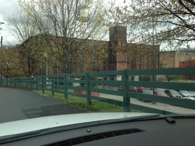 Upon arriving at Buffalo Trace you are greeted by the old brick rickhouses on their enormous grounds.