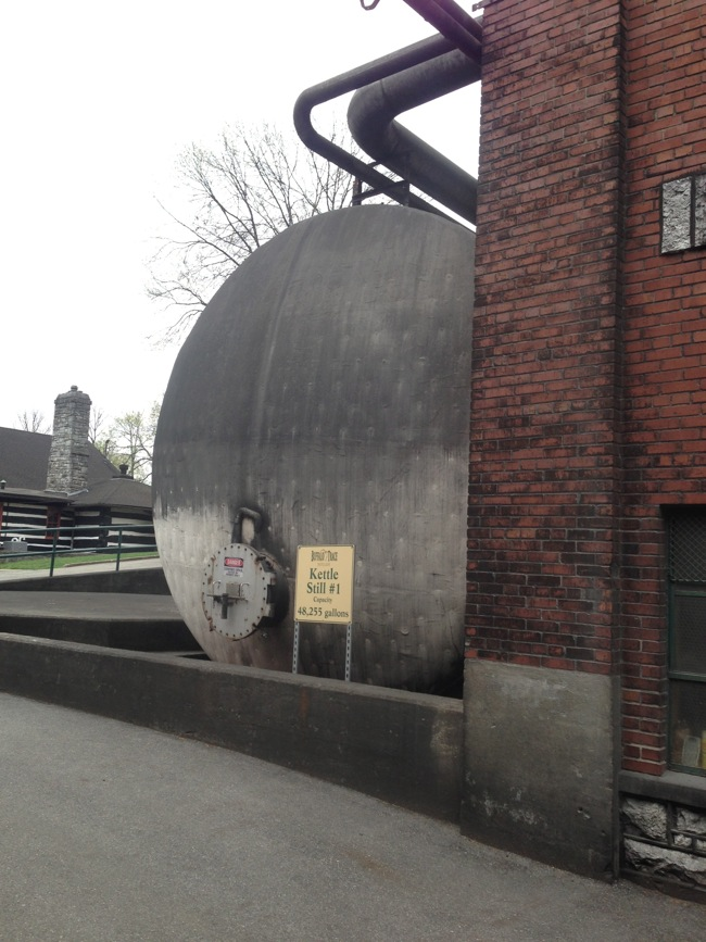 This kettle still holds more than 45,000 gallons of mash, and is one of several at Buffalo Trace.