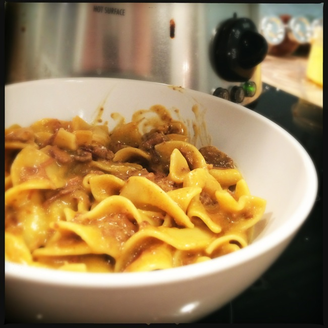Few things say comfort on a fall day like a nice creamy stroganoff