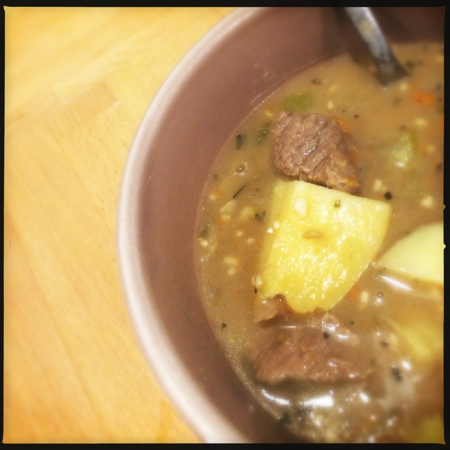 Hearty ginger-beef stew