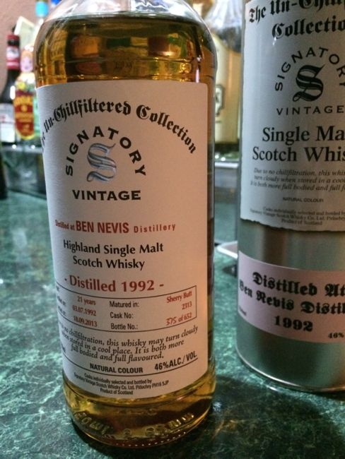 21 yo Ben Nevis Highland Single Malt
