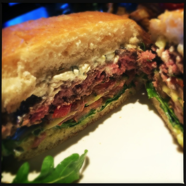 As you can see, the burger is a bit pink for something ordered medium-well, but it was juicy and flavorful.