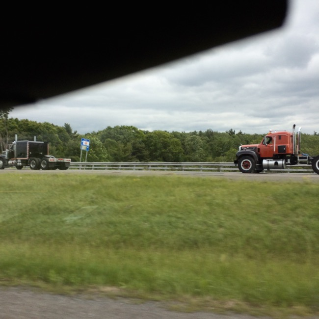 Some classic tractors we saw running down I-84 East in Pennsylvania