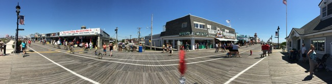 The boardwalk at Ocean City is more than a mile long