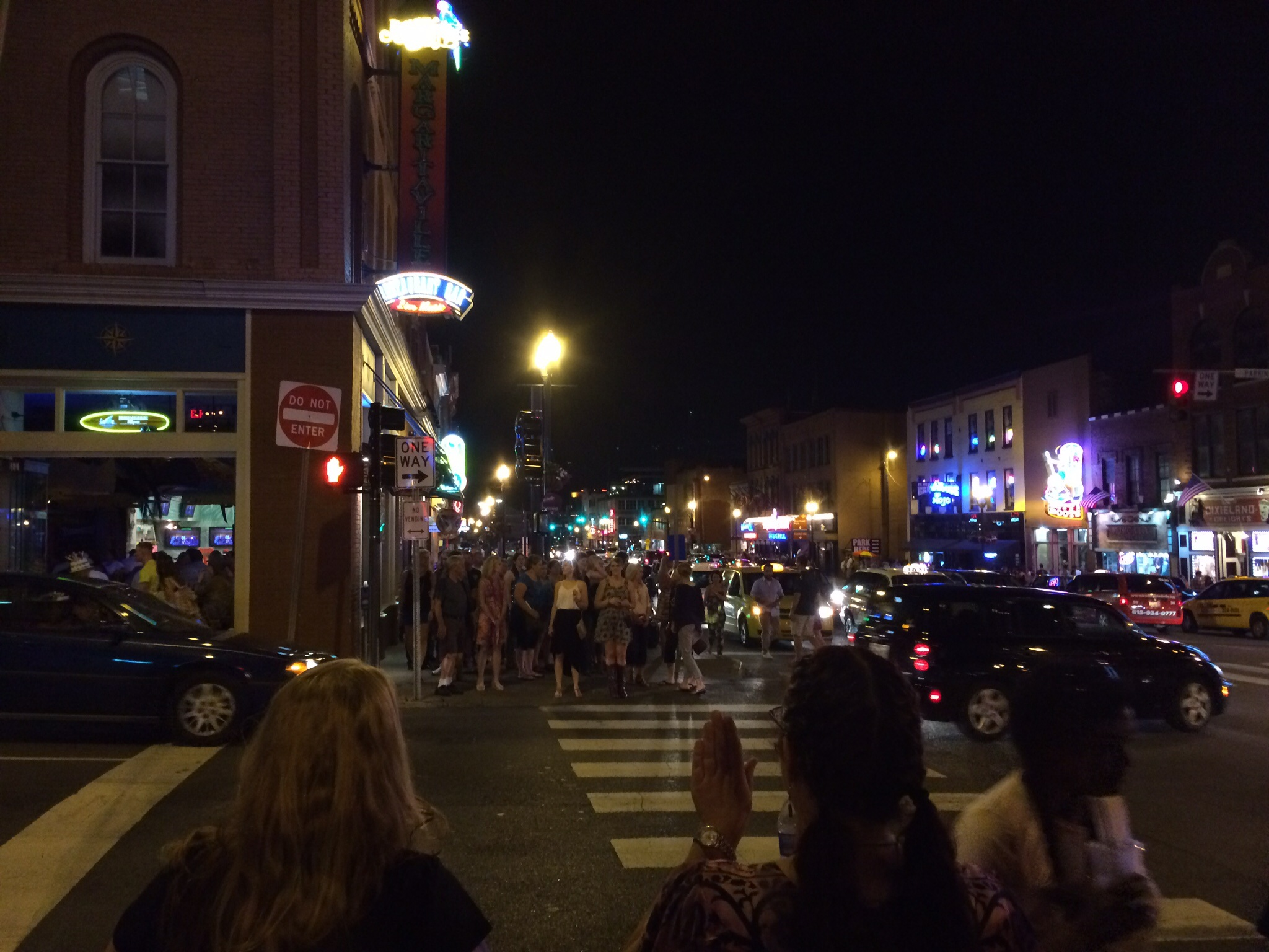 Broadway in Nashville on a Summer Friday night is something you have to experience to believe