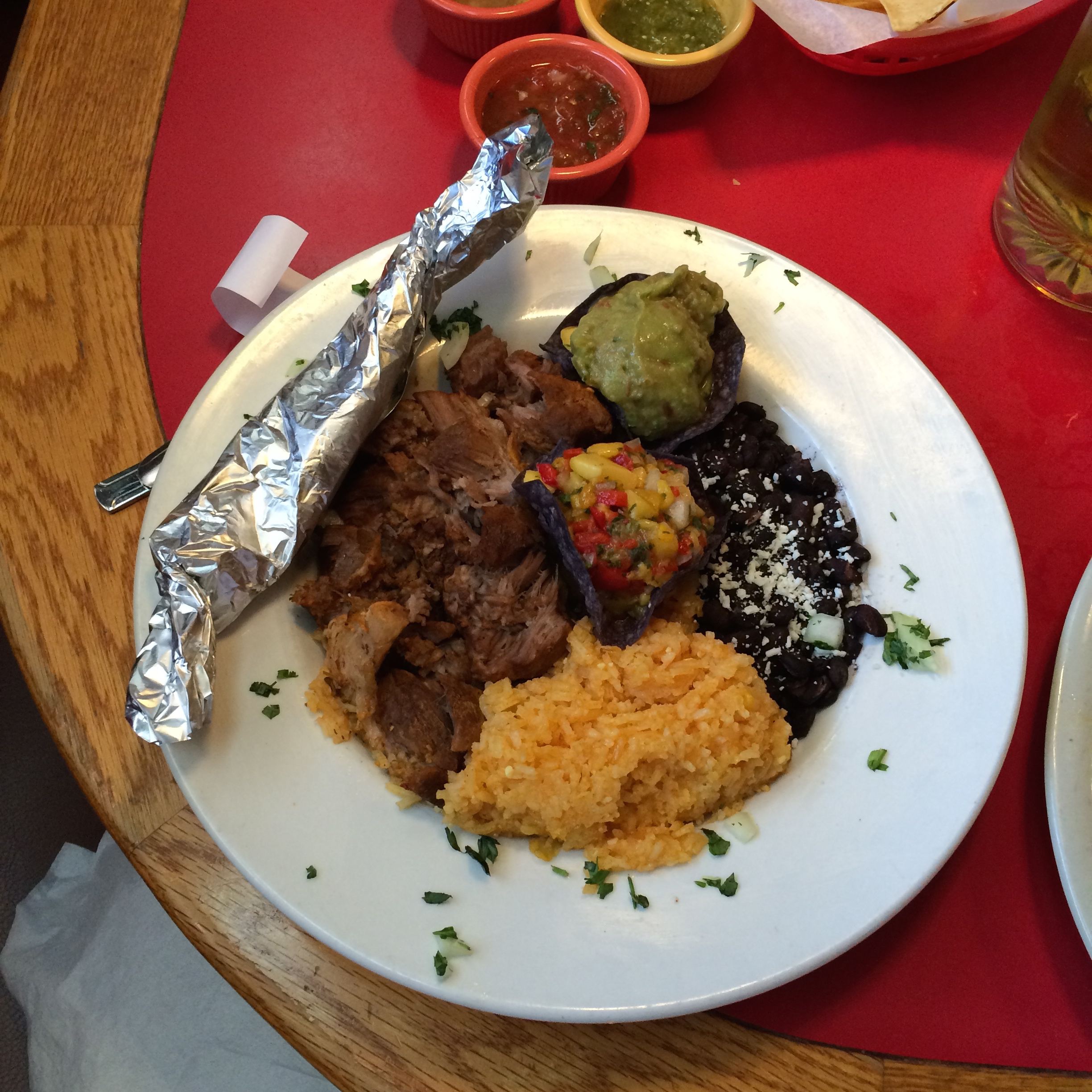 The Cochinita Pibil (Yucatan-style Pit Roasted pork) is one of many Gluten Free items on Salsa Brava's menu