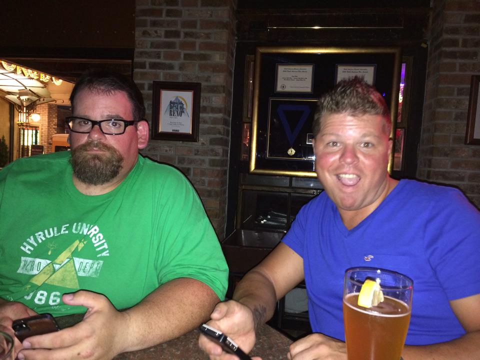 The Fat Boy and Coop at The Brew Brothers brew pub inside the Eldorado