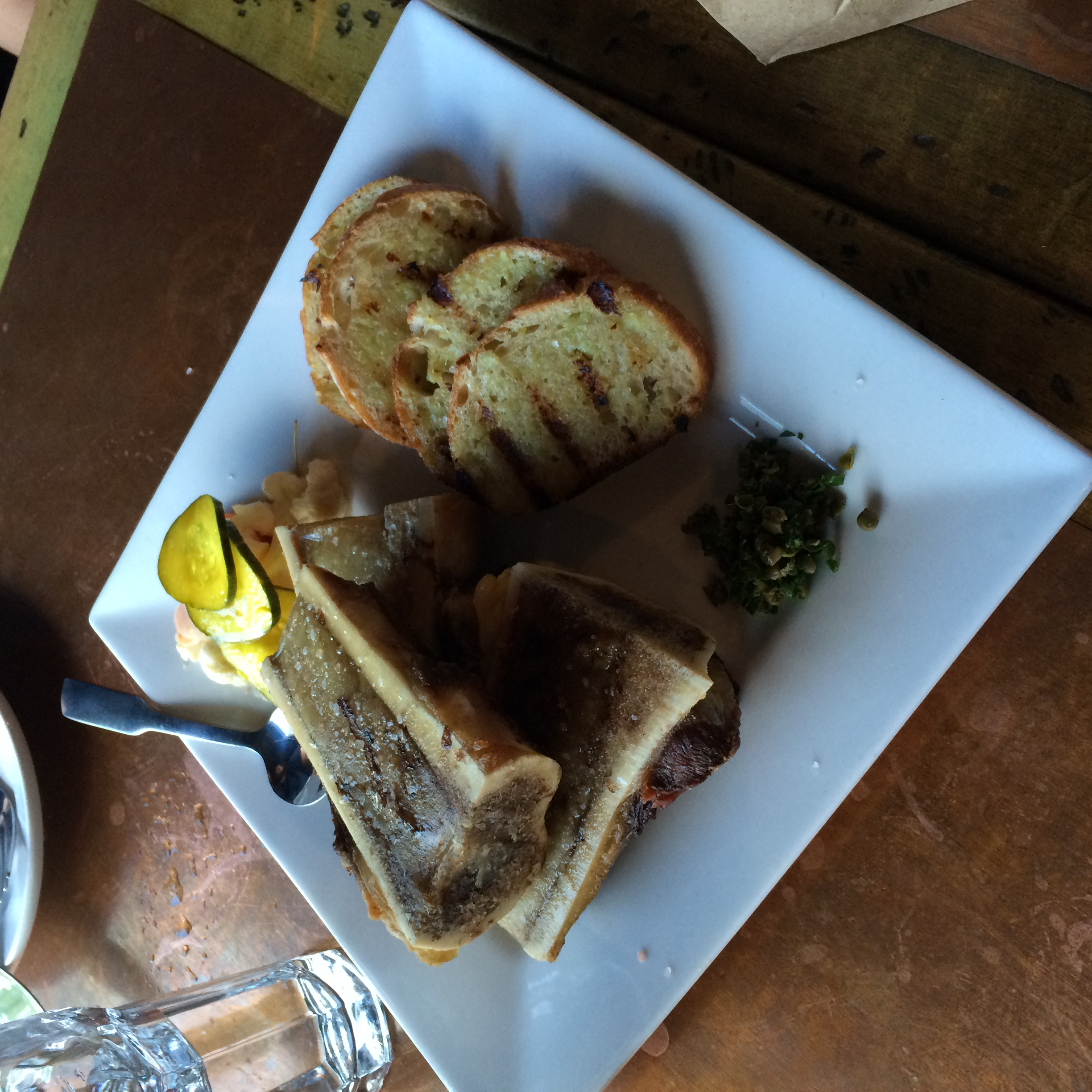 The bone marrow was expertly roasted and perfectly seasoned.