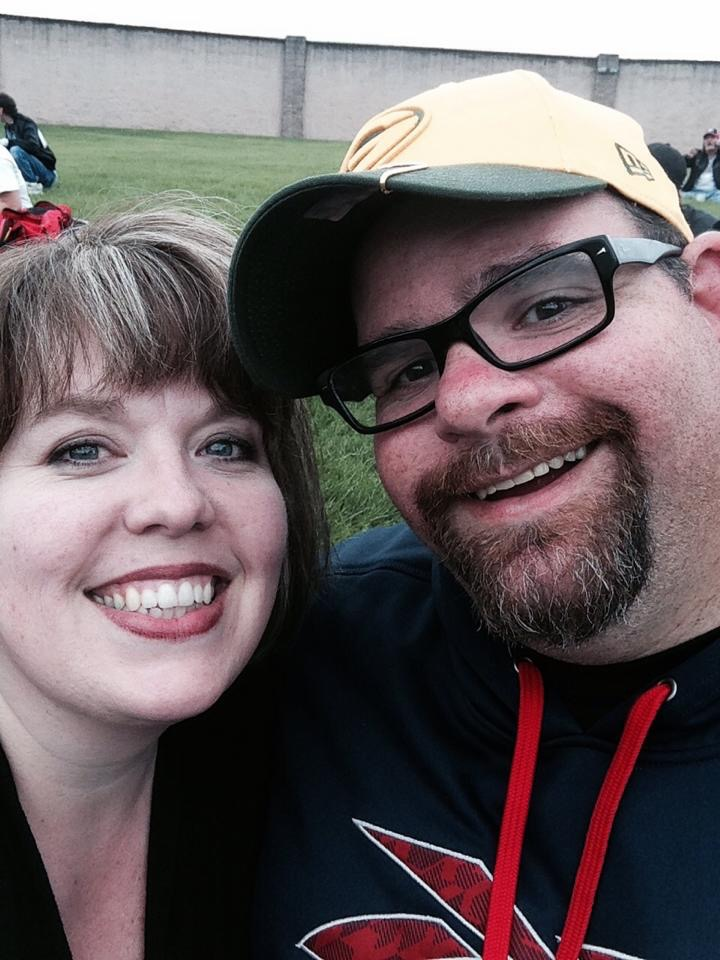 My amazing wife and I waiting for the concert to start on the final day of the Fat Boy Summer Road trip