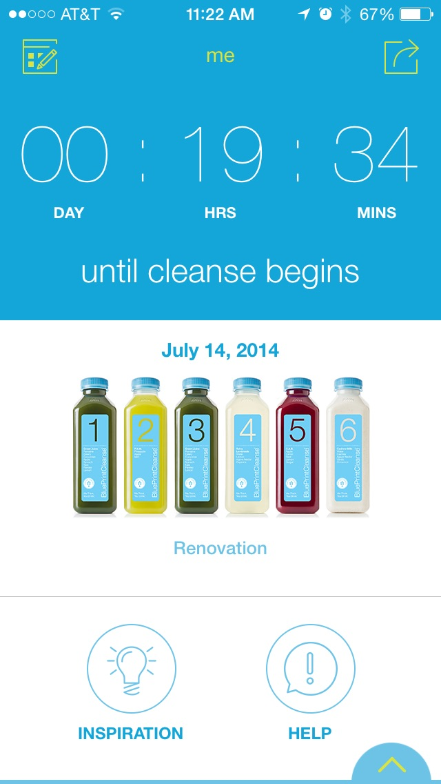 BluePrint has an iOS app to help you track your cleanse