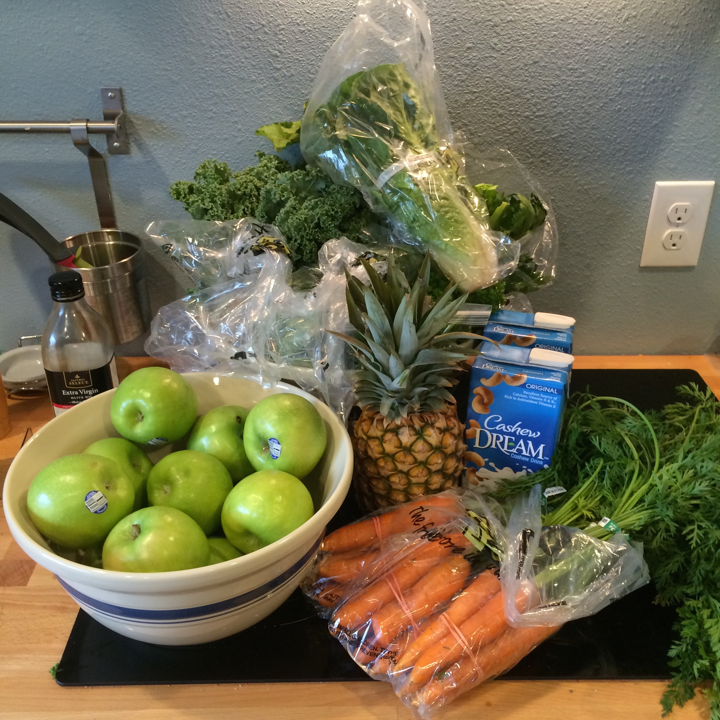 The Fruits and Vegetables for the first three days worth of juice