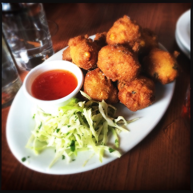 These Hush Puppies, served with jalepeno pepper jelly were worth the hour long wait by themselves