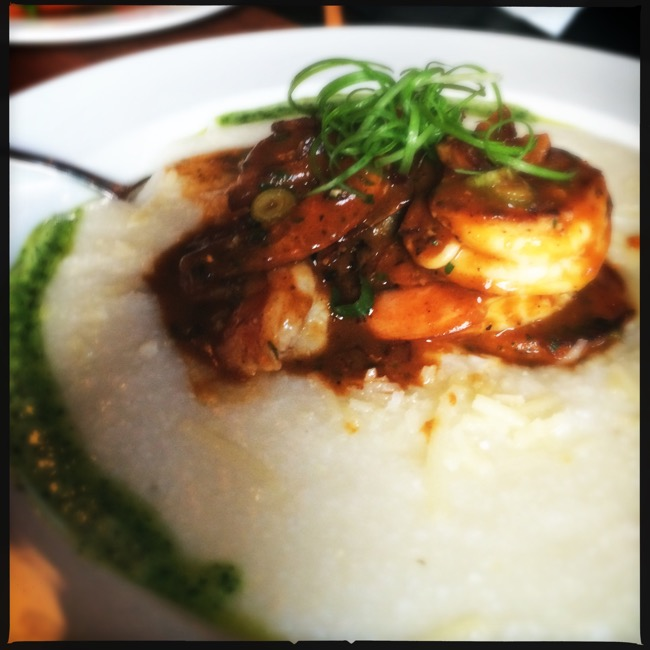 My Low Country Shrimp-n-Grits was perfectly prepared and seasoned, like I was at a Southern Mississippi diner