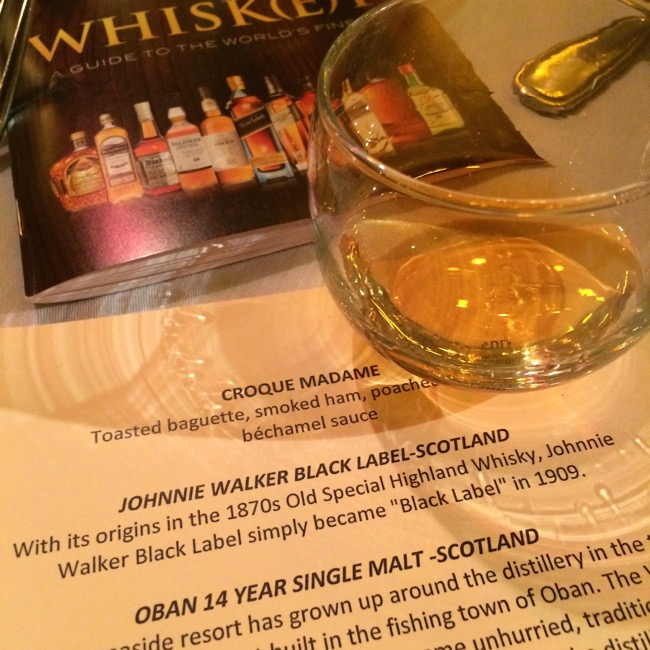After the Croque Madame we moved onto the Scotch Whisky, the drinks most familiar to most of the guests