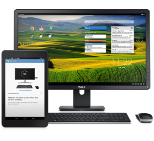 Using the DellCast, you can turn your Venue8 into a desktop computer!