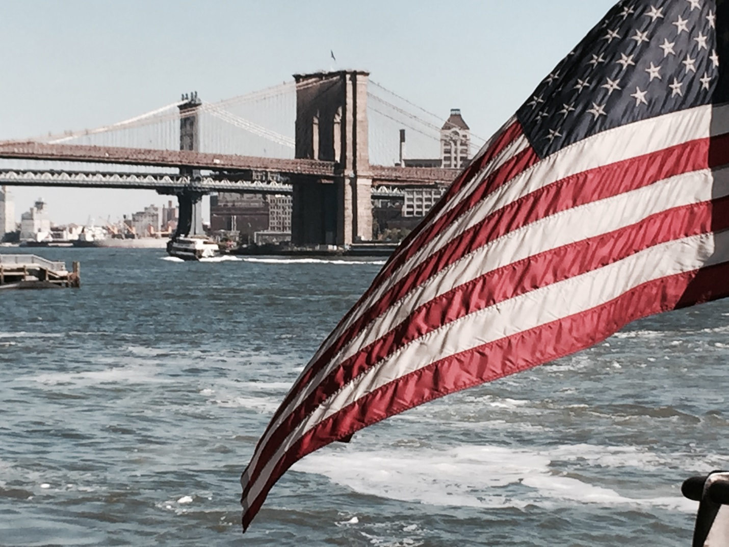 Water Taxi View of the Brooklyn Bridge