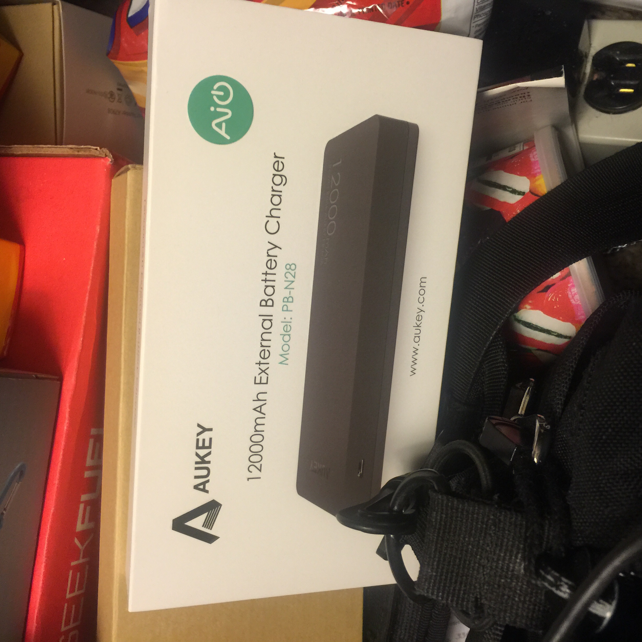 This pack from Aukey, who are quickly becoming one of my favorite accessory companies was on sale for $20 when they sent it for review.  It features auto sensing technology that adjusted the output on the USB ports to charge devices as quickly as they would take power, and more importantly reduce output when your device gets closer to fully charged or is a lower powered device.  Very important to prevent overheating, especially when they are carried together in a gear bag.