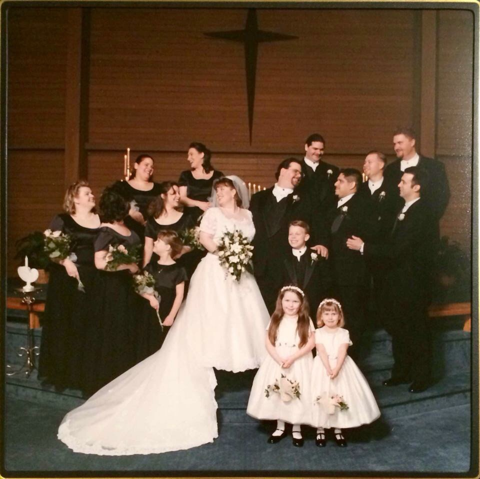 Our Wedding party, March 4th 2000