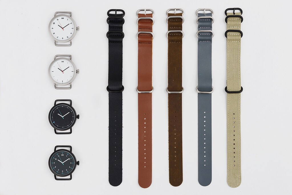 There are four watches with five band options available