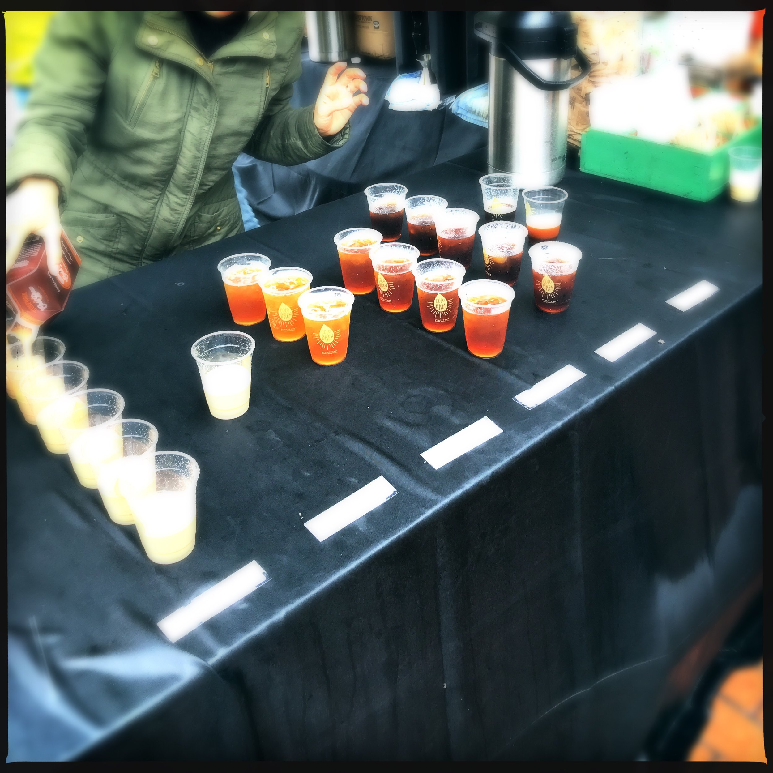 The folks at Stumptown were showing off coffee sodas along side their now legendary cold brew.
