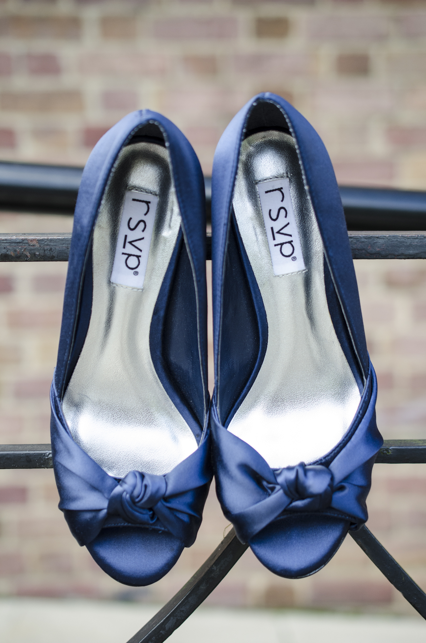 Blue wedding shoes in Baltimore, Maryland