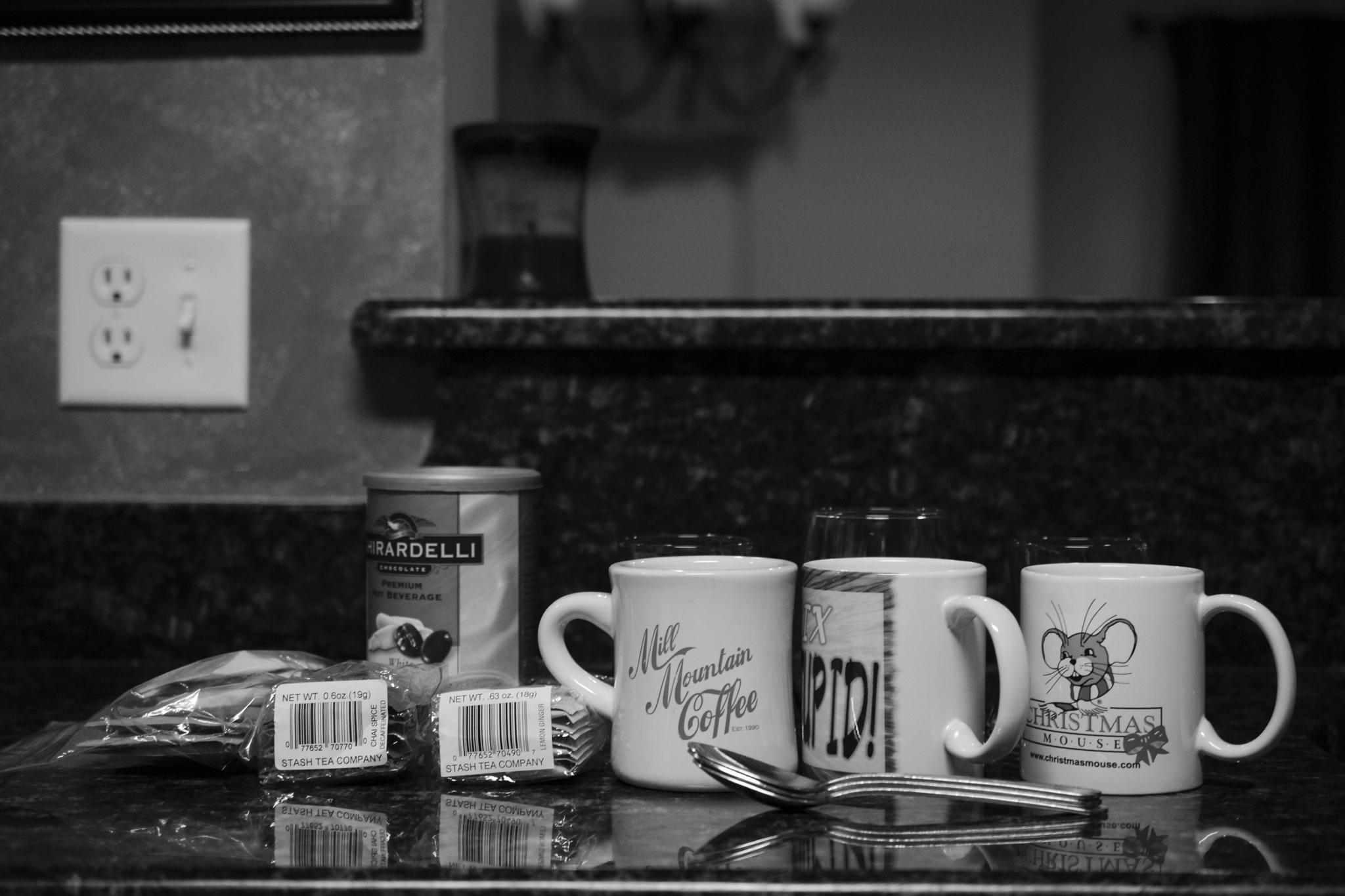 black and white mugs