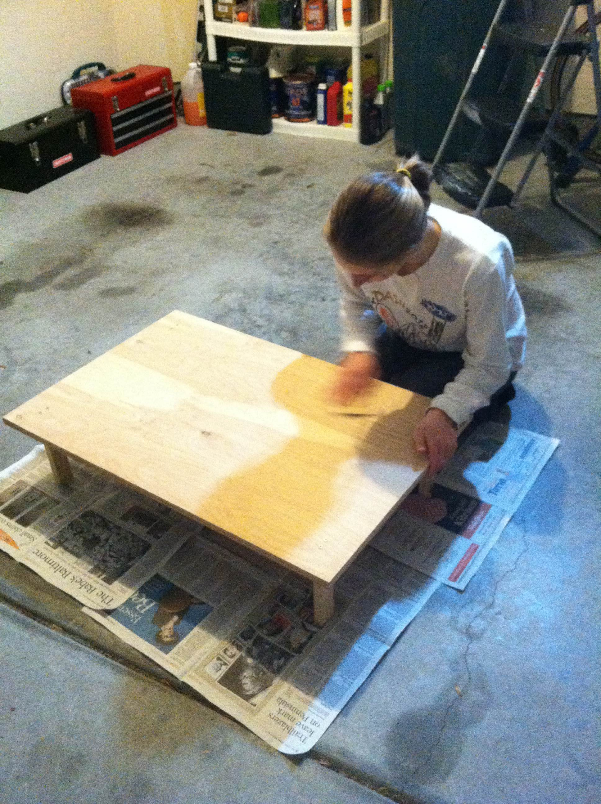 The first step...sanding