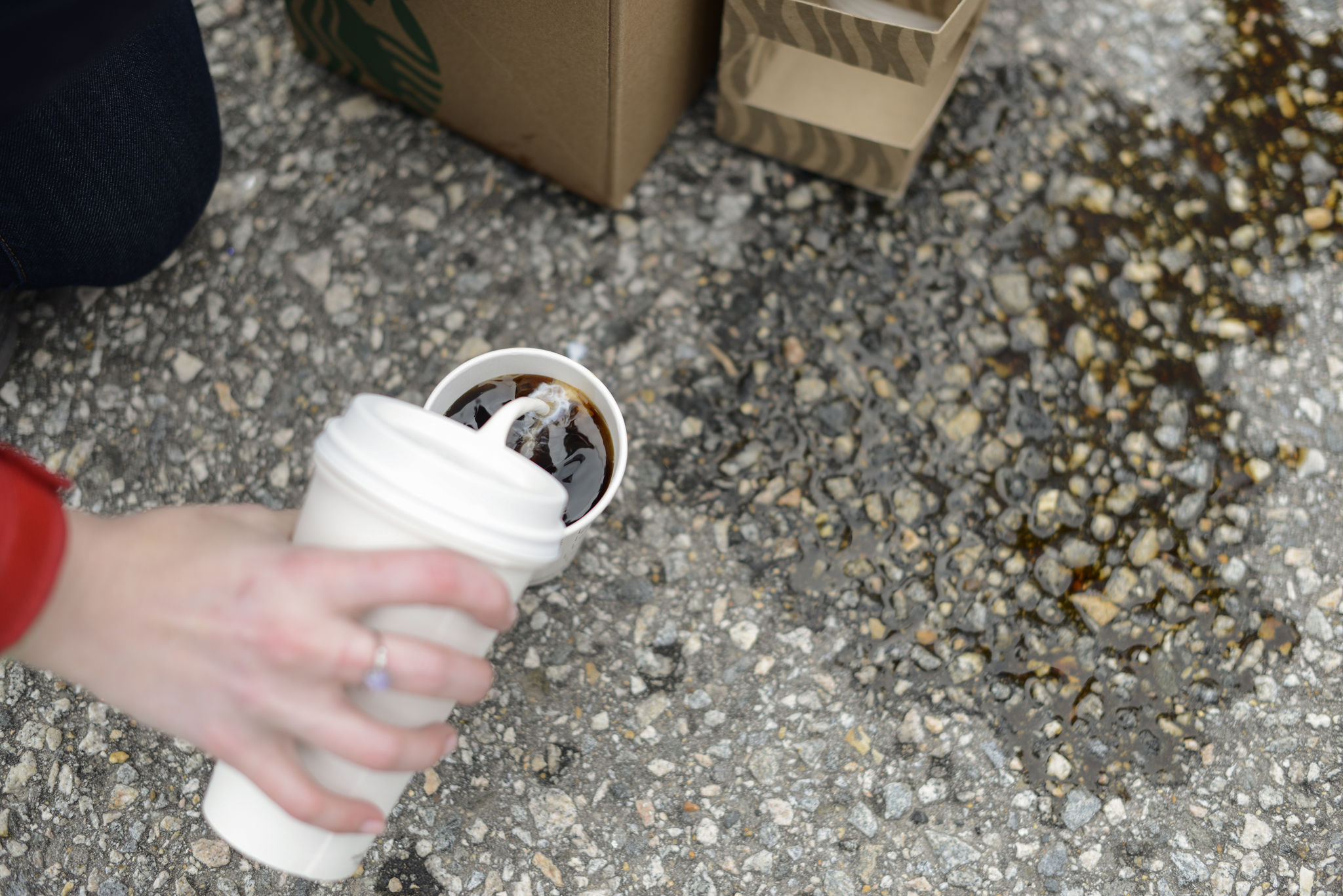 Starbucks coffee pour  USS Truman naval military homecoming   Maria Grace Photography