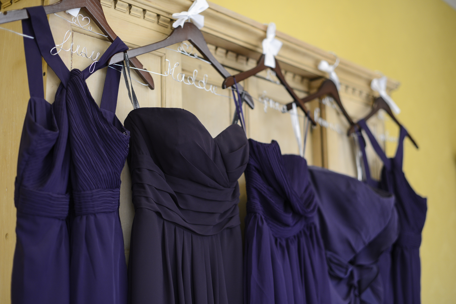 Royal purple bridesmaids dresses | Maria Grace Photography