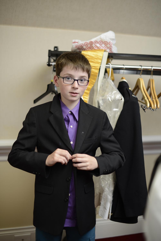 Junior groomsman getting ready |Maria Grace Photography