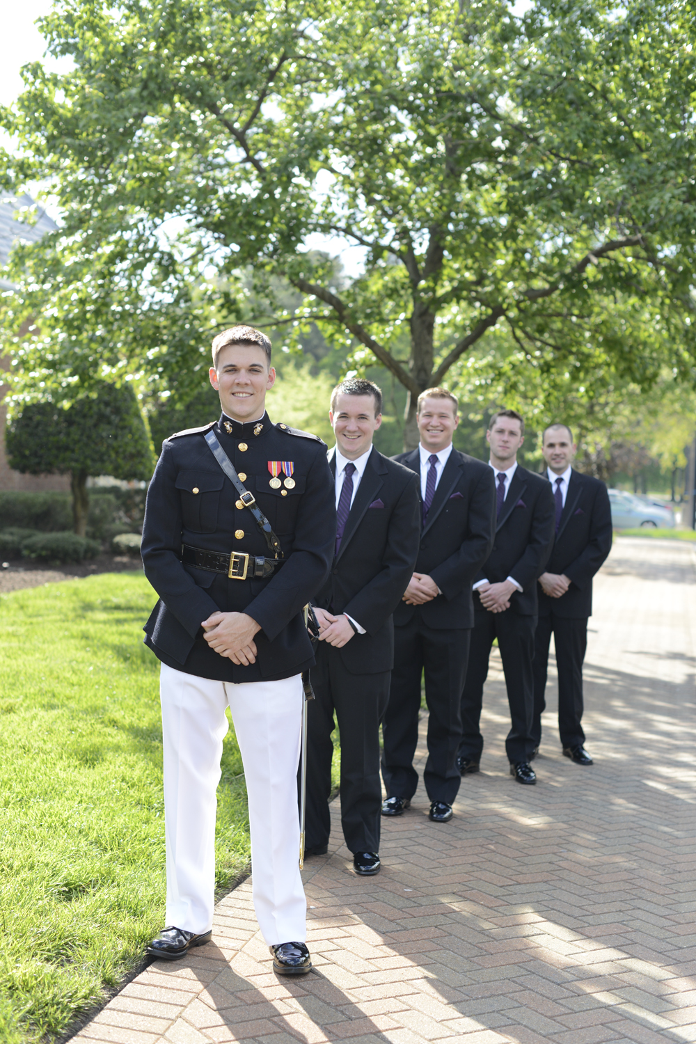 Groomsmen bridal party shot at Founder's Inn |Maria Grace Photography