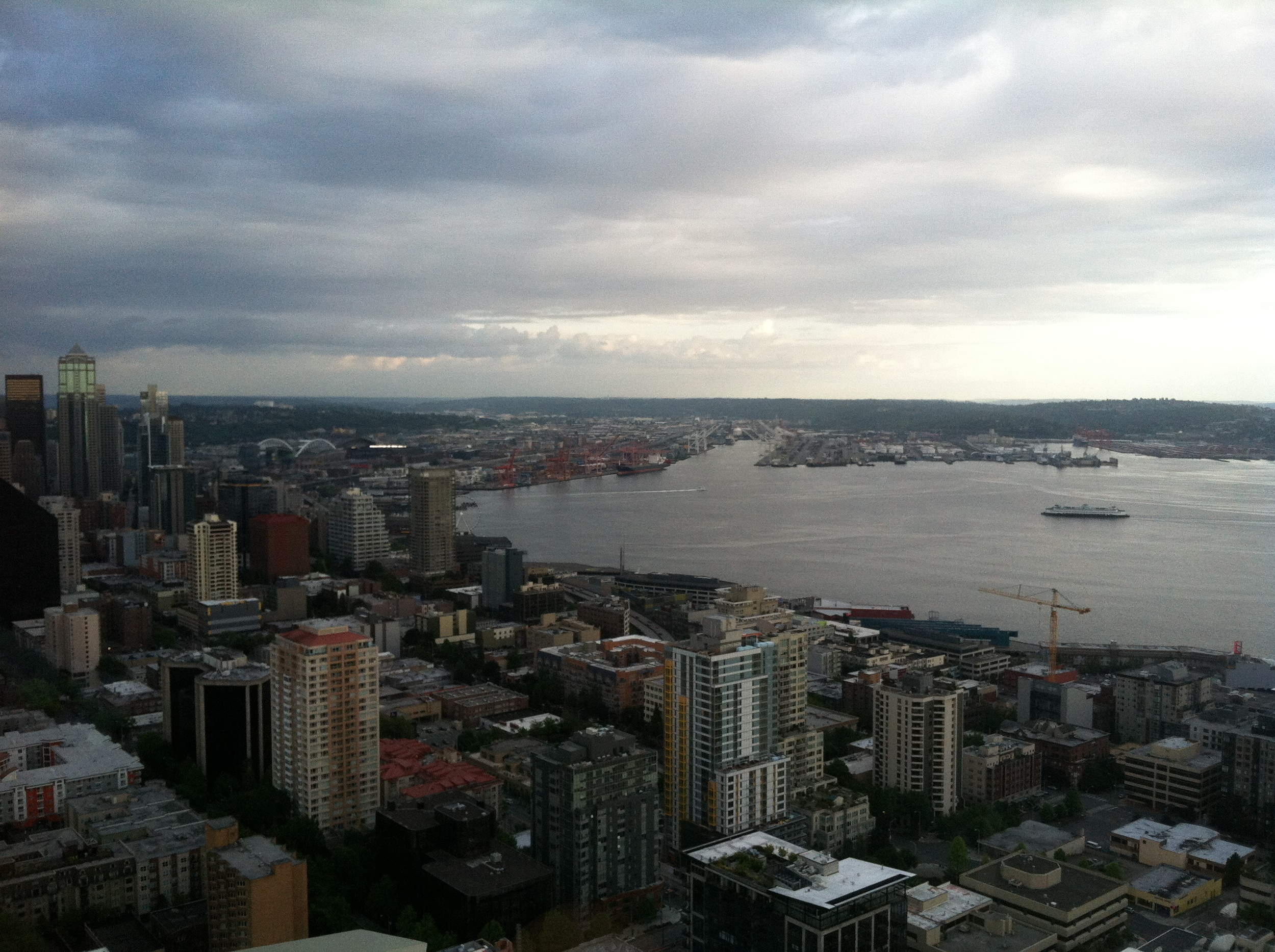 iPhone picture of the view from the Seattle Space Needle