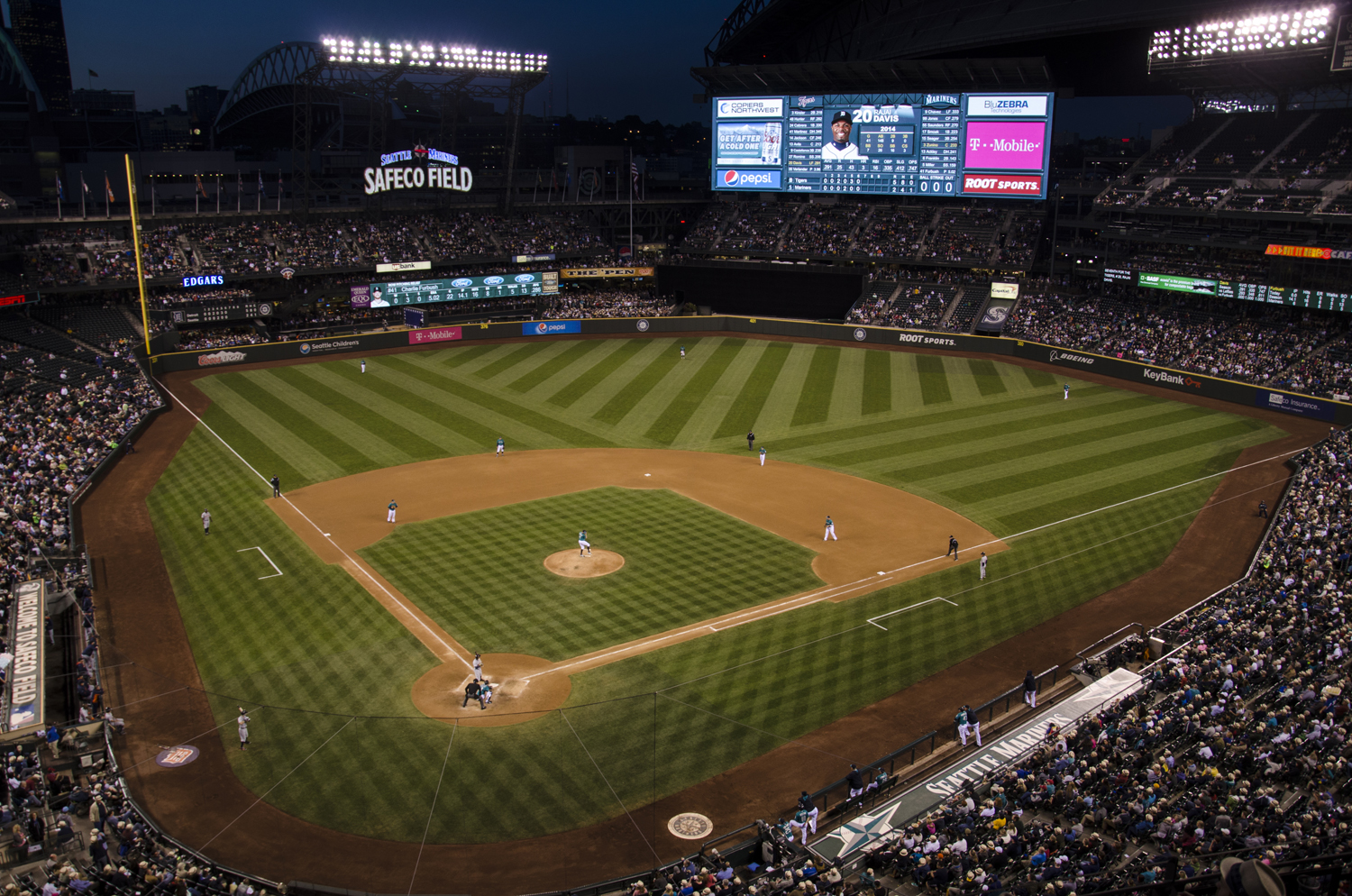 Seattle Mariners vs Detroit Tigers, Major League Baseball MLB game at Safeco Field in Seattle, Washington