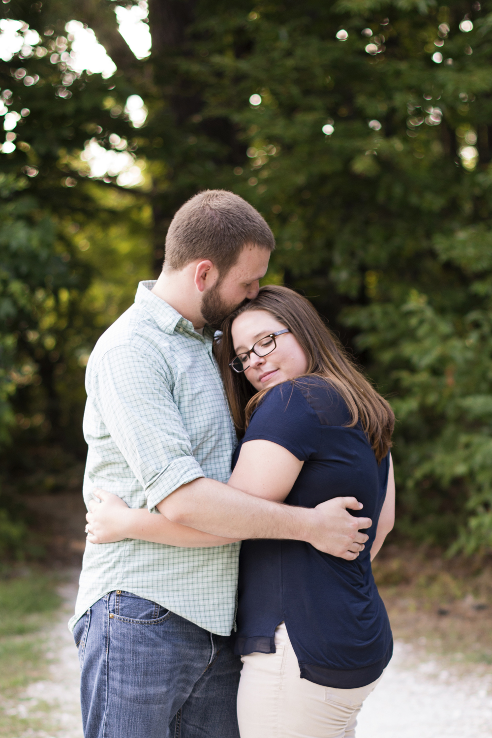 Intimate engagement pictures at Lions Bridge Park in Newport News, Virginia