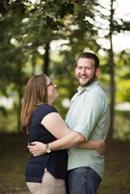 Joyful engagement pictures at Lions Bridge Park in Newport News, Virginia
