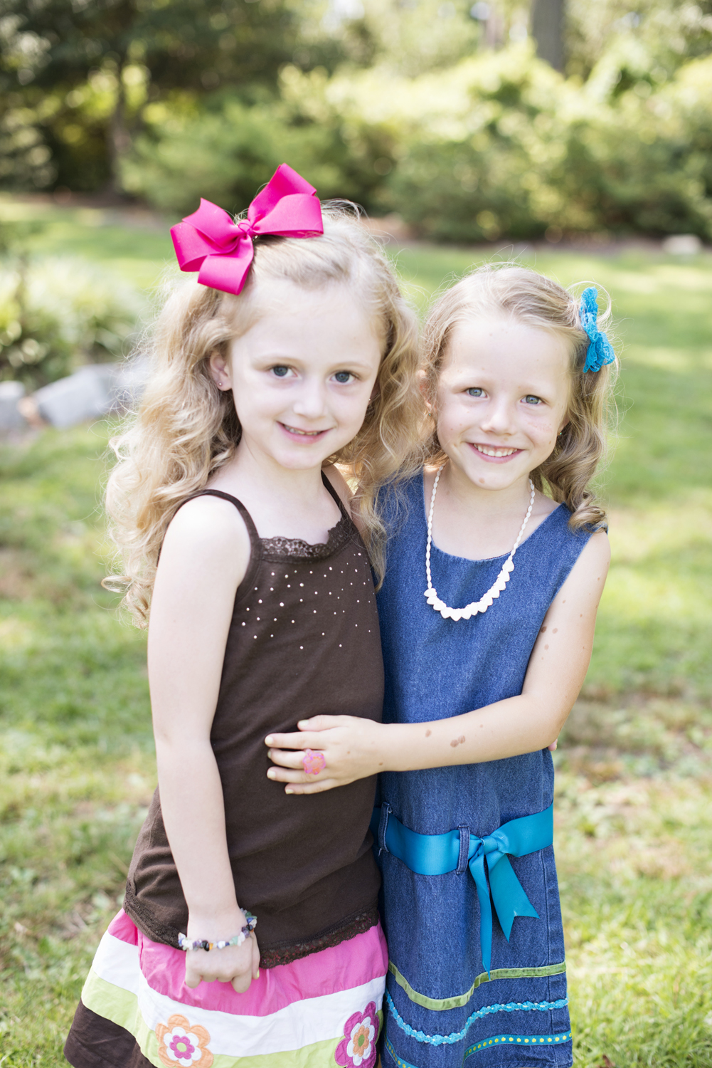 Two adorable cousins at family portraits in Portsmouth, Virginia