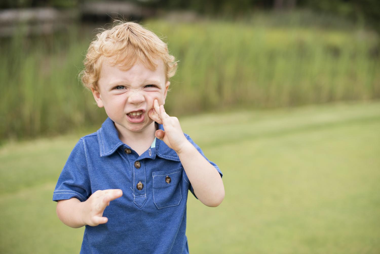 Cute little boy at Princess Anne Country Club Golf Course in Virginia Beach