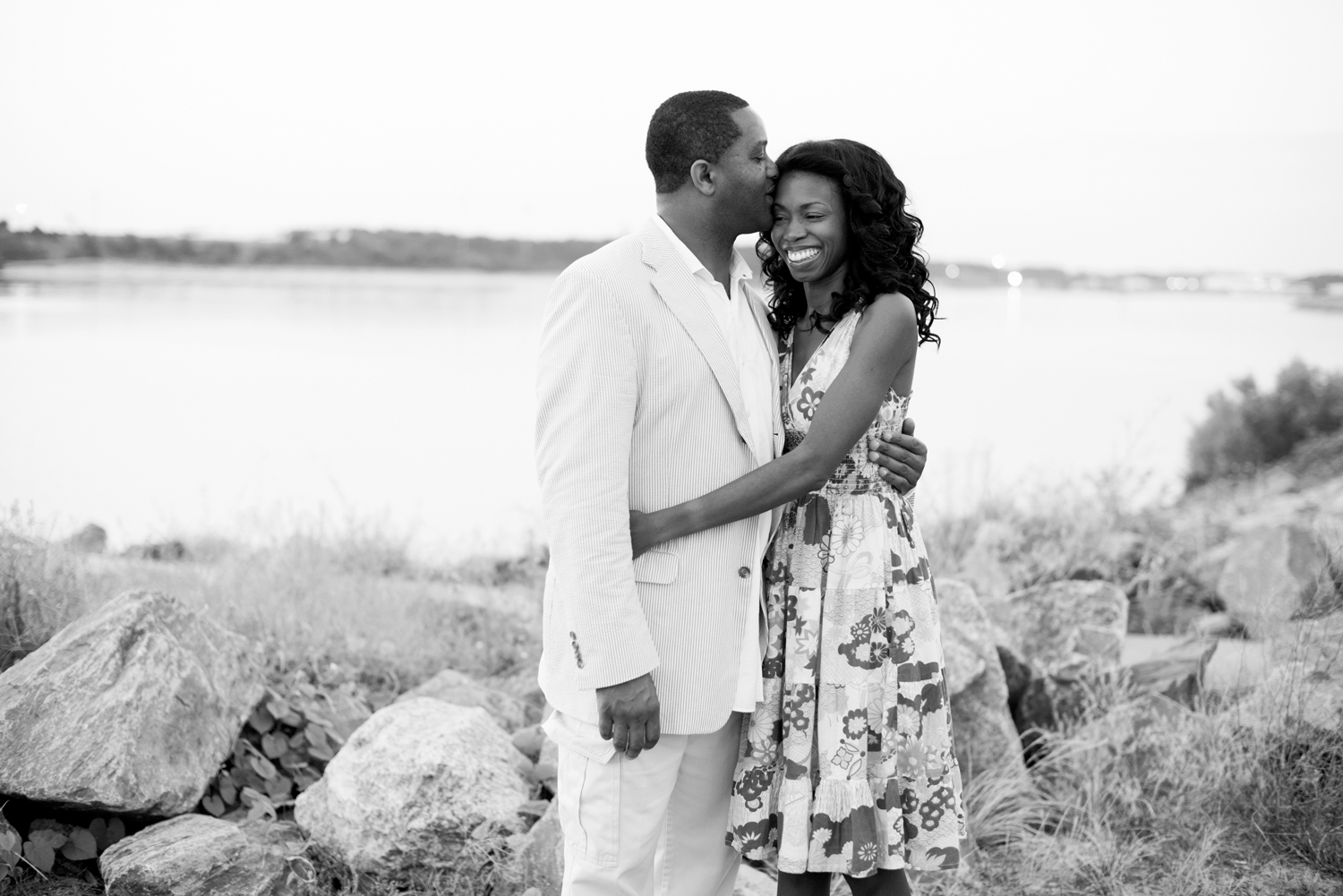 Sunrise portraits at East Beach in Norfolk, Virginia (black and white)