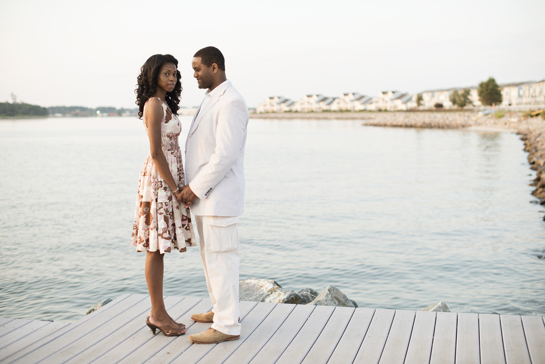 Sunrise engagement portraits at East Beach in Norfolk, Virginia