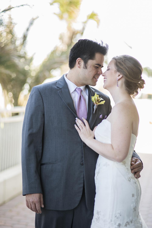 Bride & groom first look portraits   Fall hotel wedding in Virginia Beach