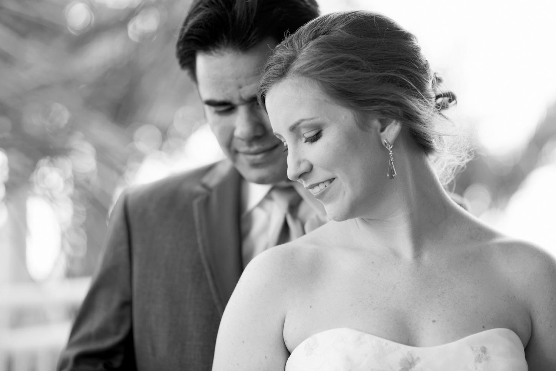 Intimate, sweet bride & groom portraits   Fall hotel wedding in Virginia Beach