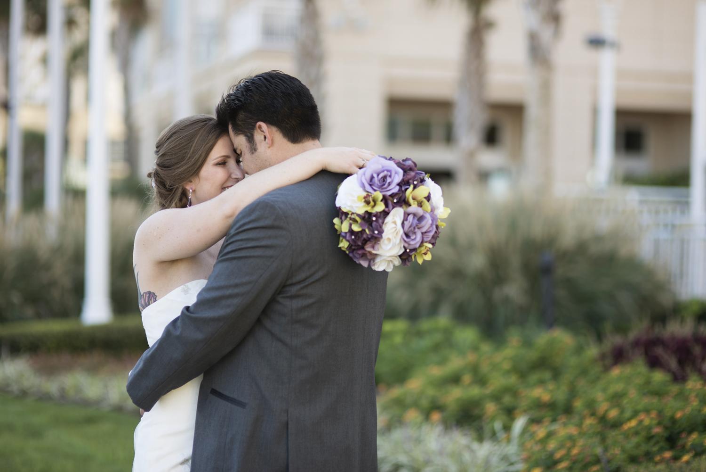 Bride and groom portraits   Fall hotel wedding in Virginia Beach