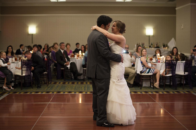 Bride & groom first dance   Fall hotel wedding in Virginia Beach
