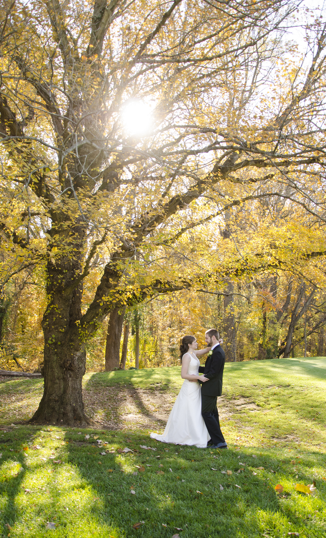 Fall wedding shot with a Nikon D800 at Newton White Mansion in Baltimore