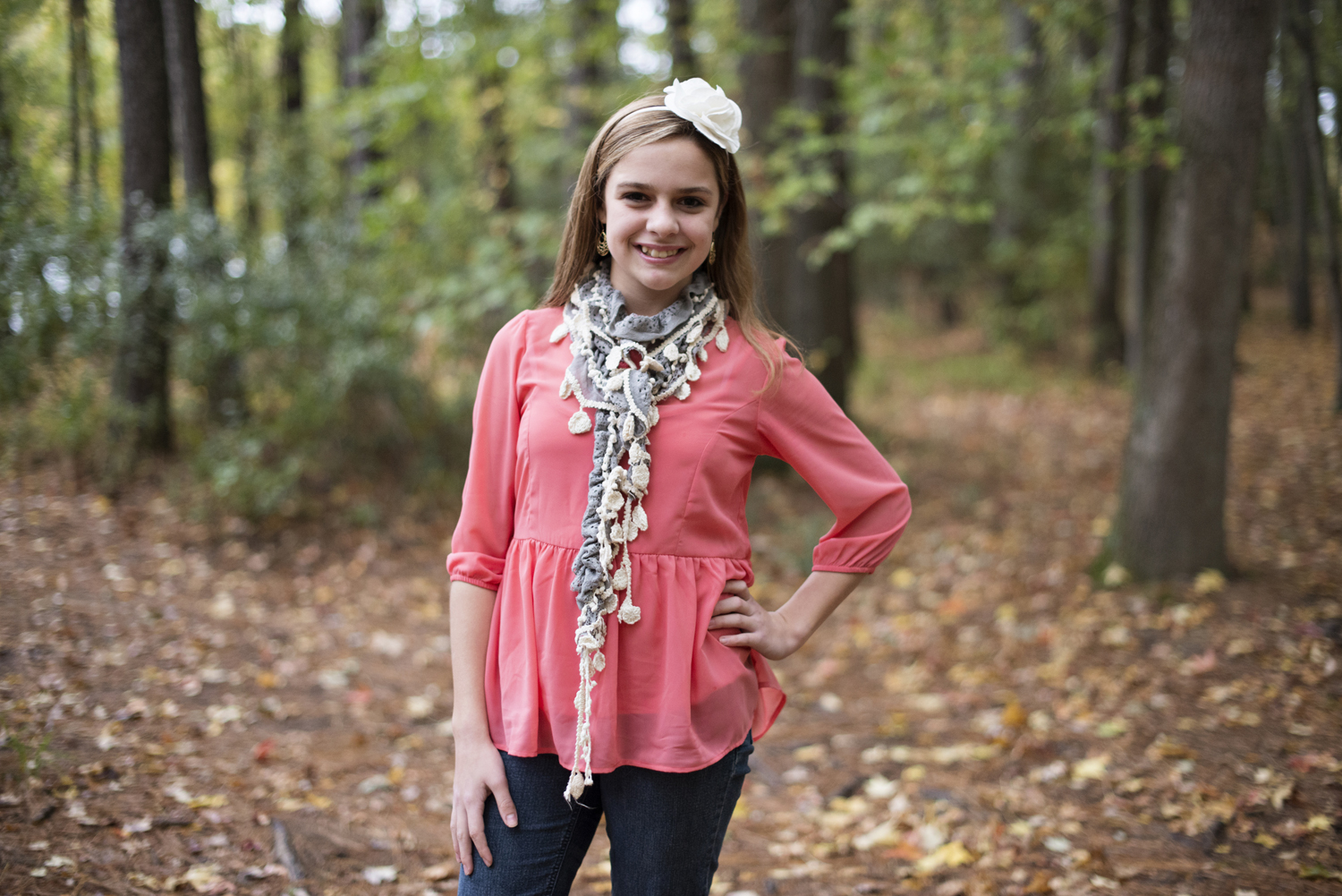 Christmas card outfit ideas - pink, gray, and white