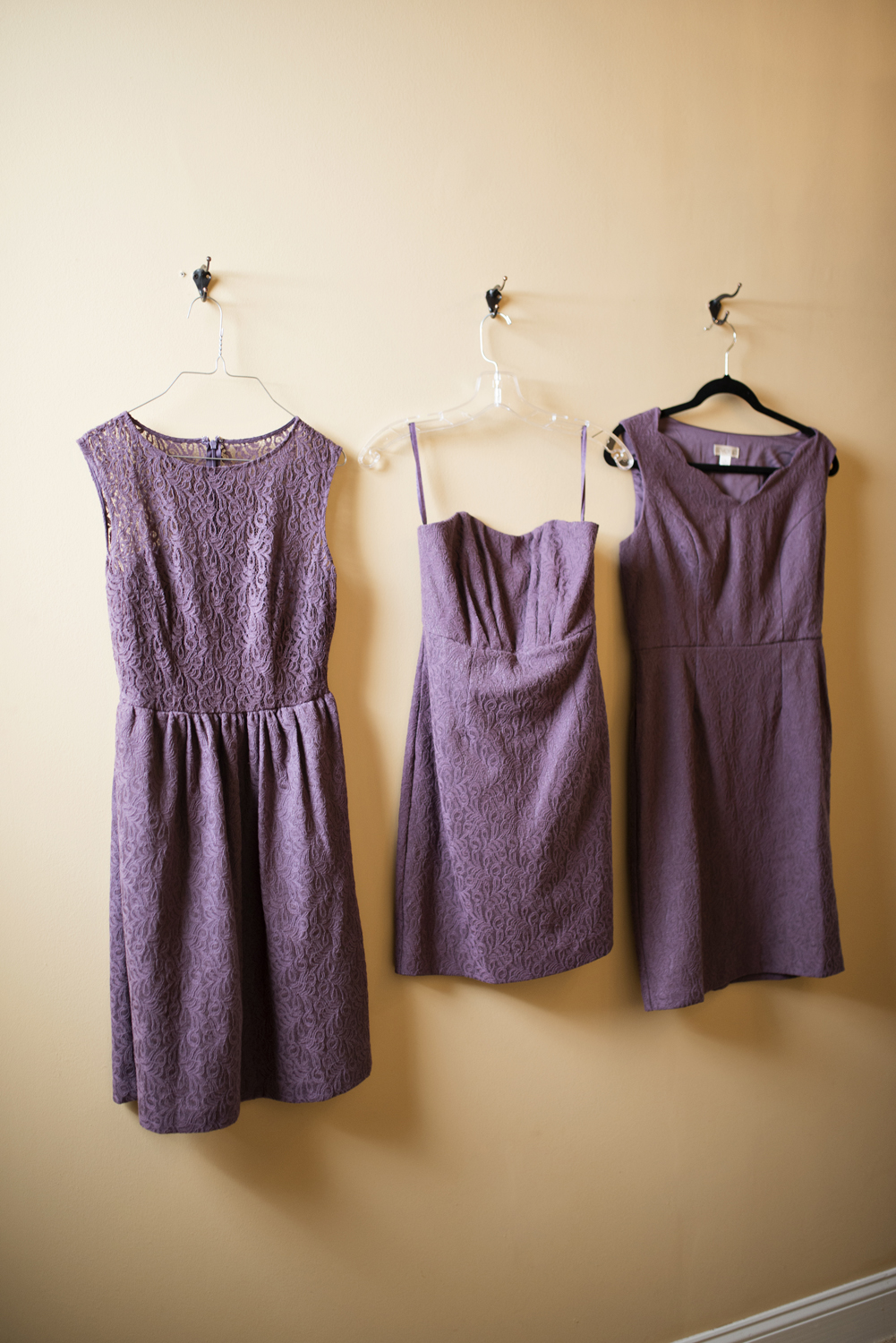 Purple rustic bridesmaid dresses from Target